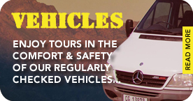 Read more about the vehicles we use on our tours